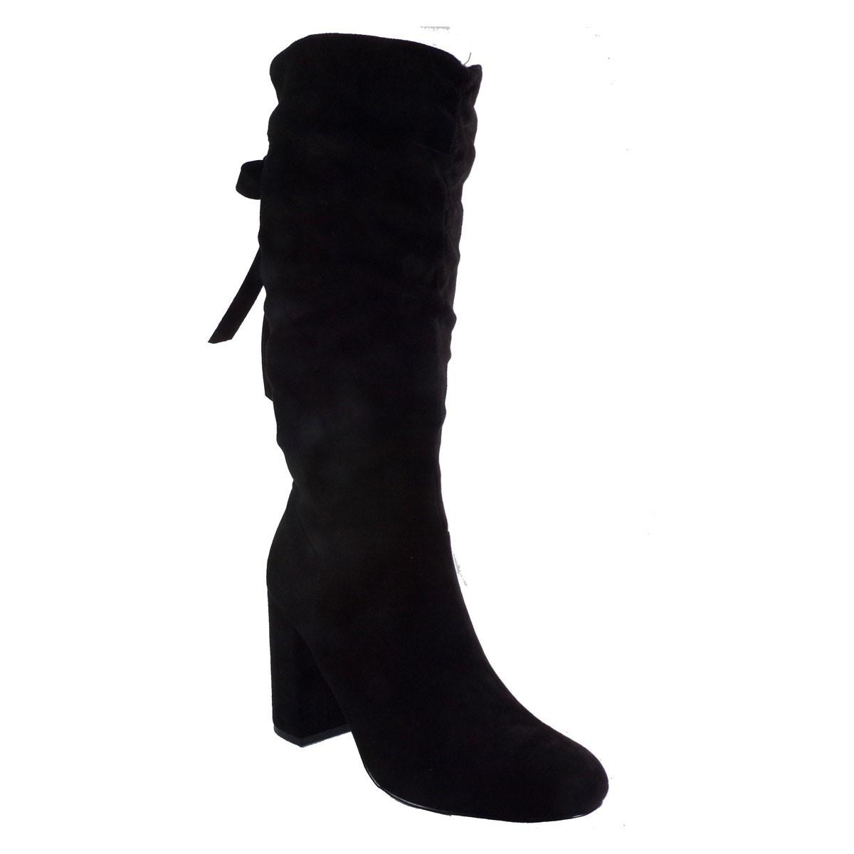 Exe Shoes Γυναικεία Παπούτσια Μπότα CARINA-620 Μαύρo Καστόρι H2700620500405