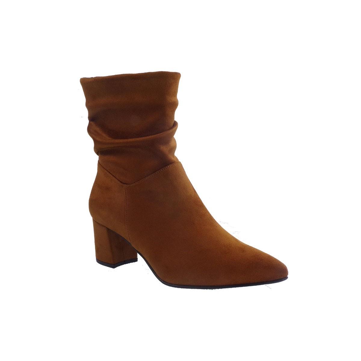 Fardoulis Shoes Γυναικεία Παπούτσια Μποτάκια 5703 Ταμπά Καστόρι Λικρα
