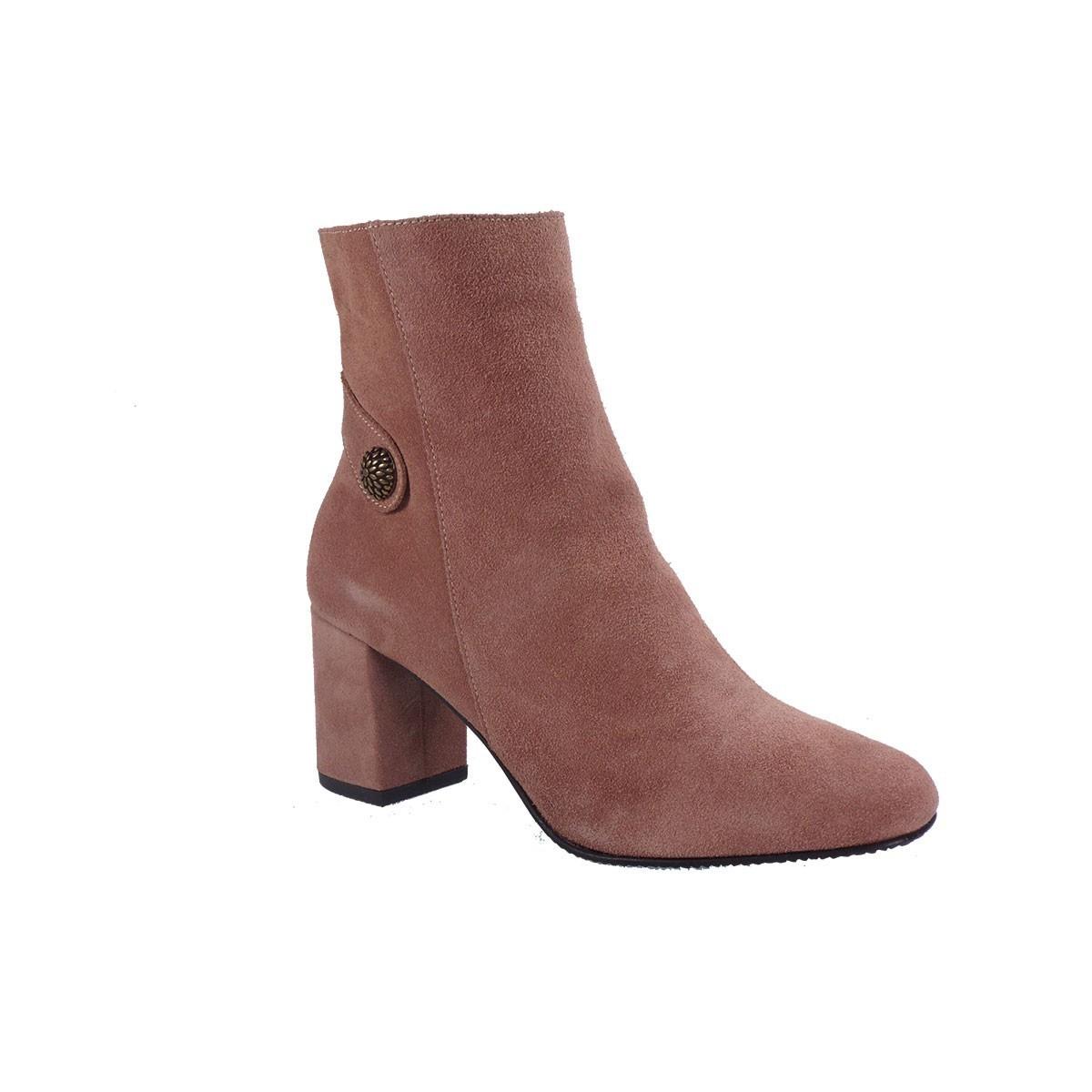 Fardoulis Shoes Γυναικεία Παπούτσια Μποτάκια 1606 Nude Kαστόρι