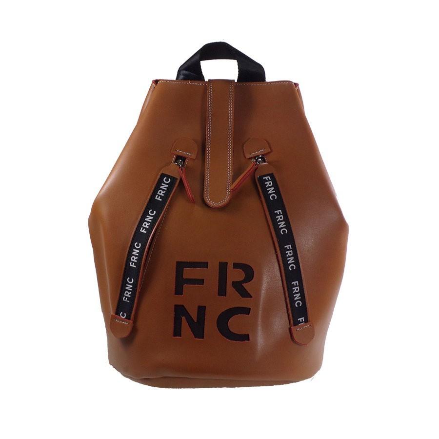FRNC FRANCESCO Τσάντα Γυναικεία Πλάτης-Backpack 1241 Ταμπά Δέρμα ... bfd2e0b1e30
