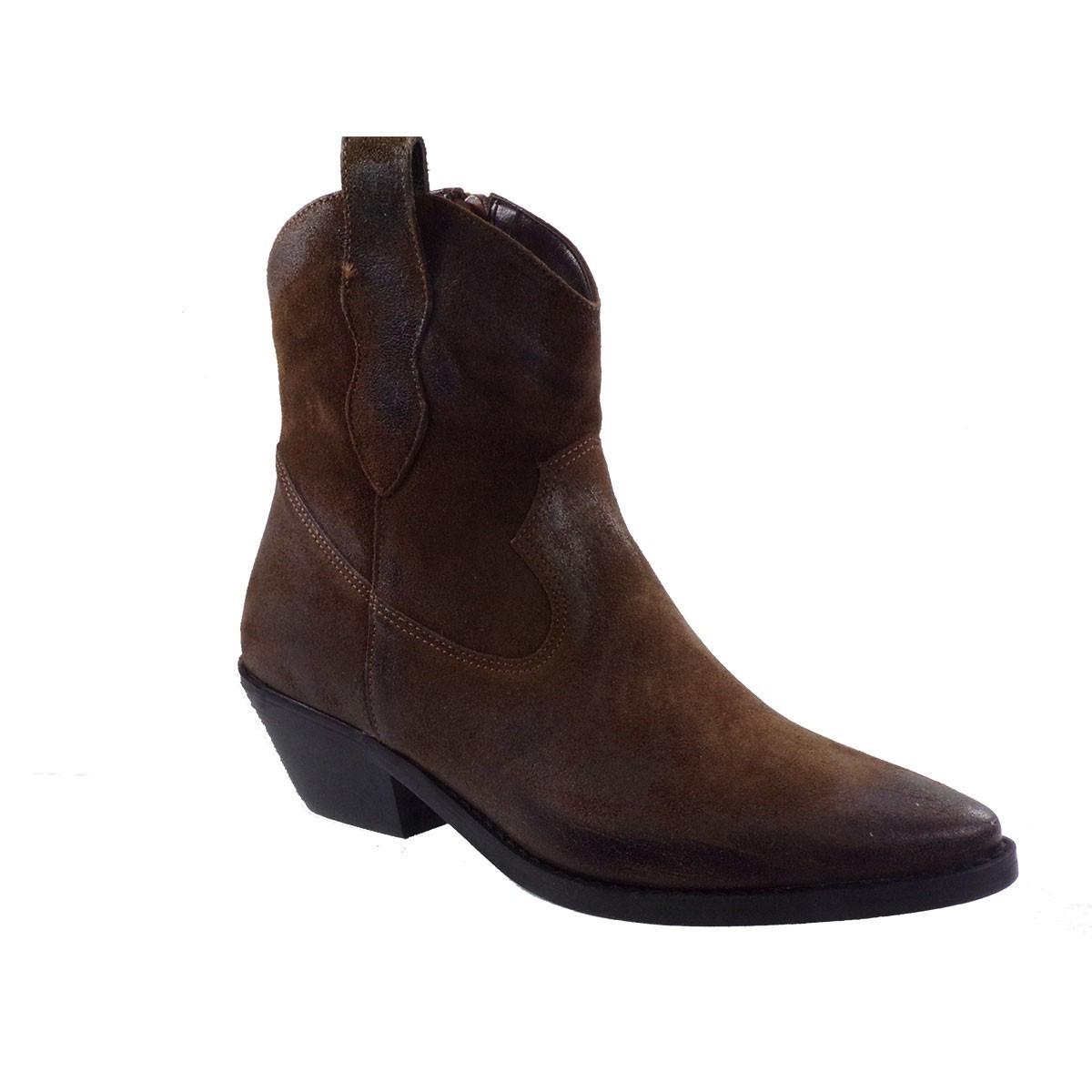 Fardoulis Shoes Γυναικεία Παπούτσια Μποτάκια 4108 Καφέ