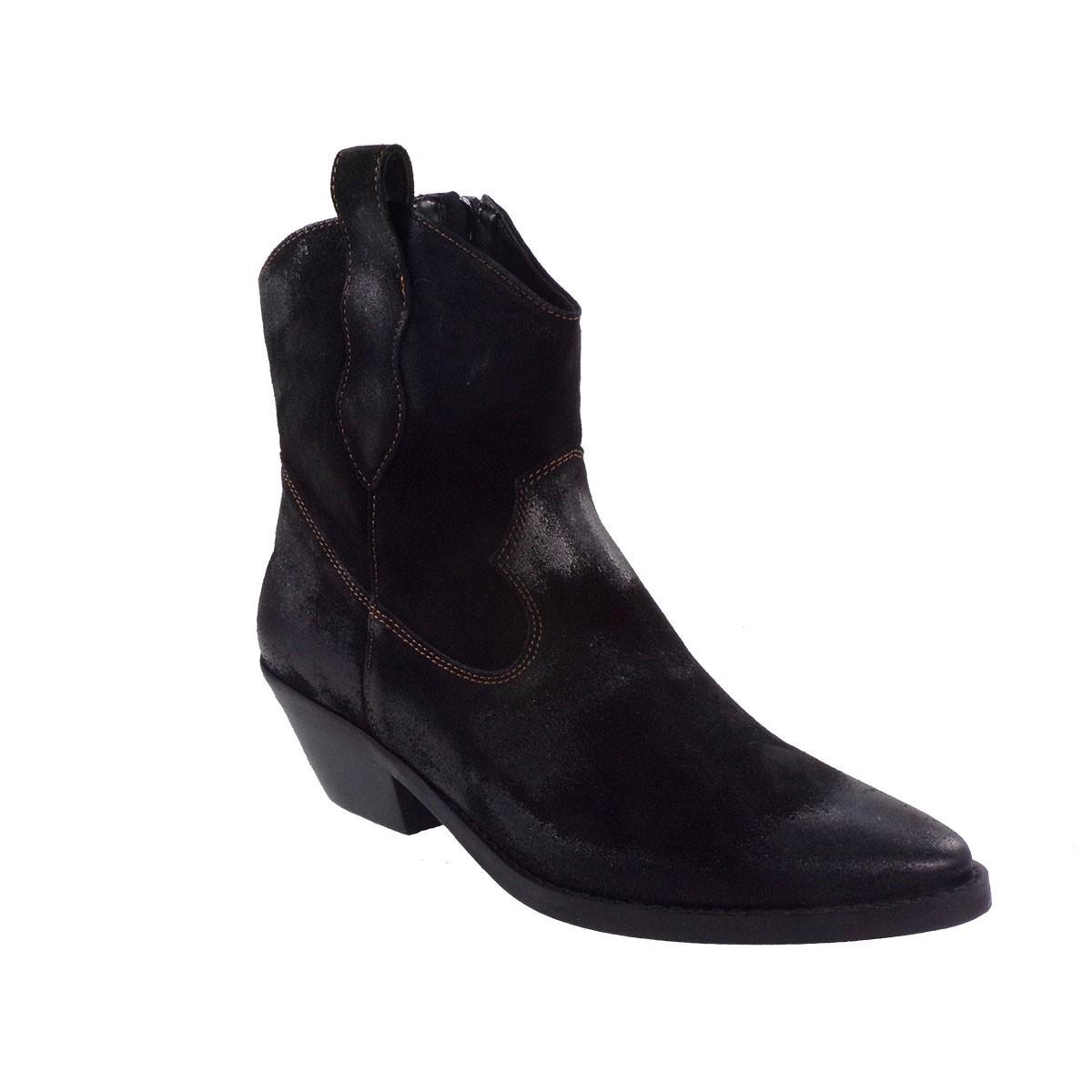 Fardoulis Shoes Γυναικεία Παπούτσια Μποτάκια 4108 Μαύρο