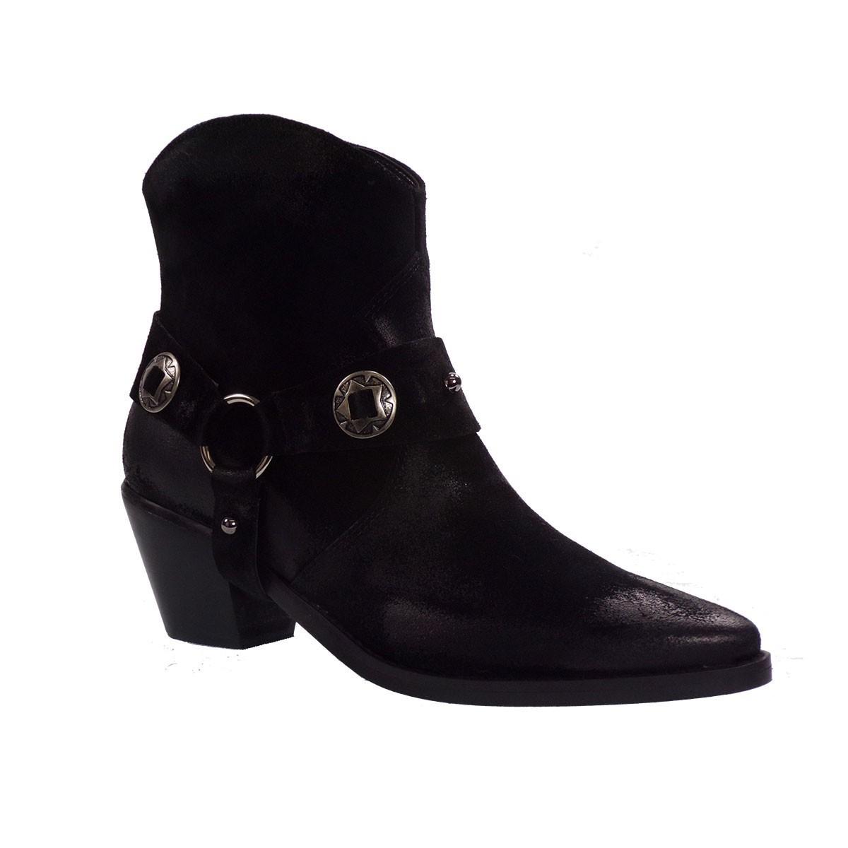 Fardoulis Shoes Γυναικεία Παπούτσια Μποτάκια 4211 Μαύρο