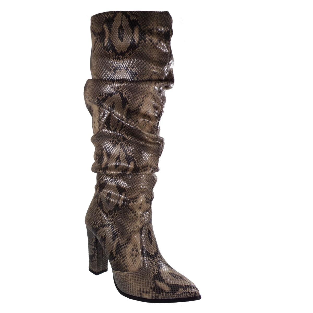 3730c50098 Katia Shoes Γυναικεία Παπούτσια Μπότα Γ-116-4973 Μπέζ Φίδι ...