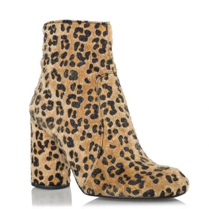 Envie Shoes Γυναικεία Μποτάκια E02-08151-97 Λεοπάρ