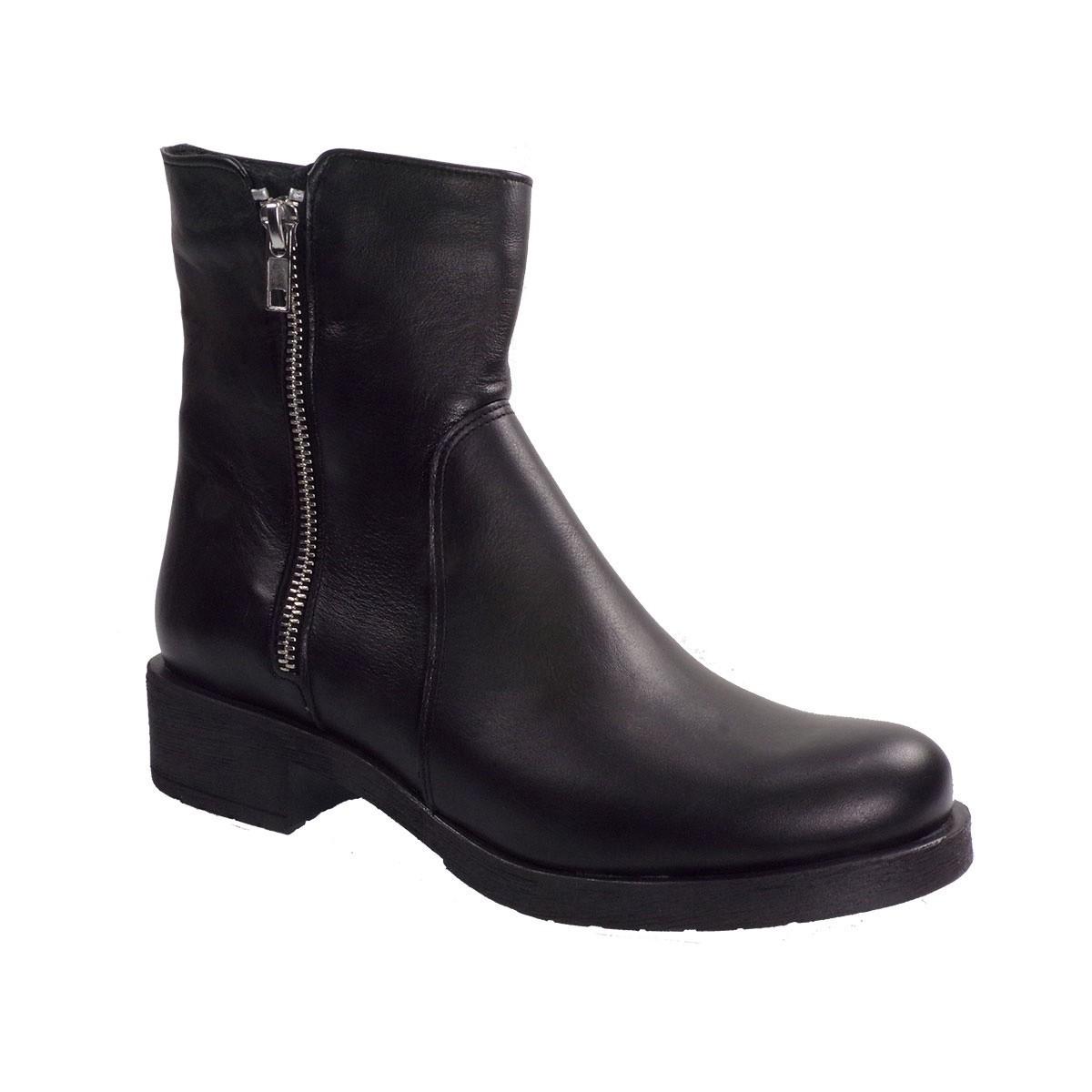 Envie Shoes Γυναικεία Παπούτσια Μποτάκια E02-08013 Μαύρο Δέρμα