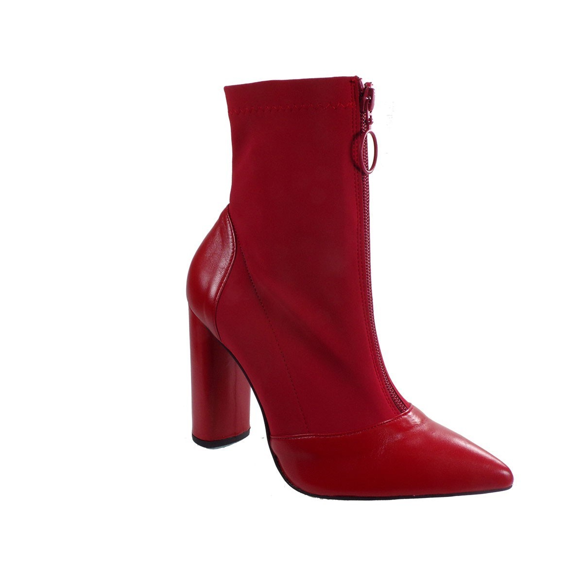 Fardoulis Shoes Γυναικεία Παπούτσια Μποτάκια 4713 Κόκκινο Λίκρα