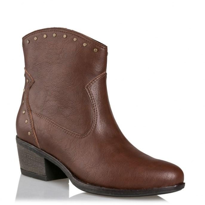 Mairiboo by Envie Shoes Γυναικεία Mποτάκια M03-08300-28 Καφέ NEVADA