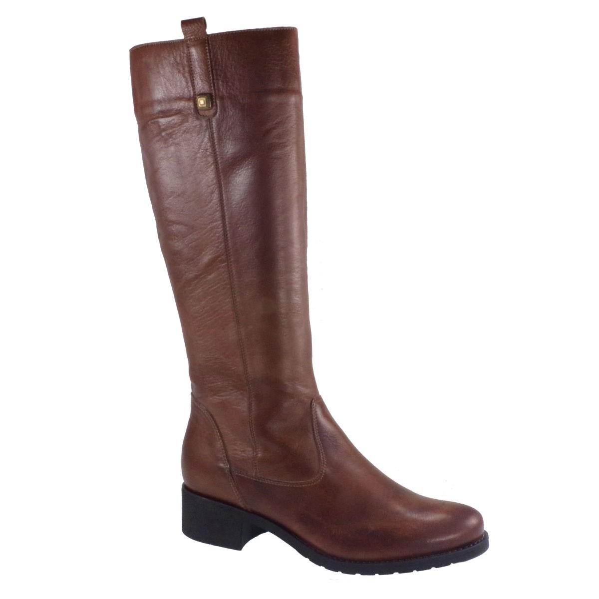 Fardoulis Shoes Γυναικεία Παπούτσια Μπότα 1803 Ταμπά Δέρμα