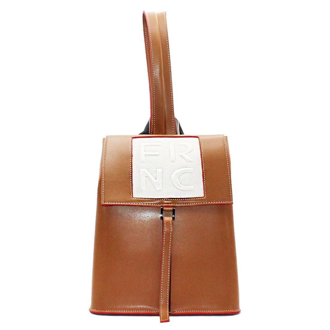832121f442 FRNC FRANCESCO Τσάντα Γυναικεία Πλάτης-Backpack 1025 Ταμπά ...
