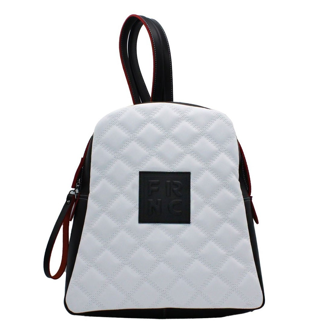 2942f8b0dd FRNC FRANCESCO Τσάντα Γυναικεία Πλάτης-Backpack 1202 Λευκό Καπιτονέ ...
