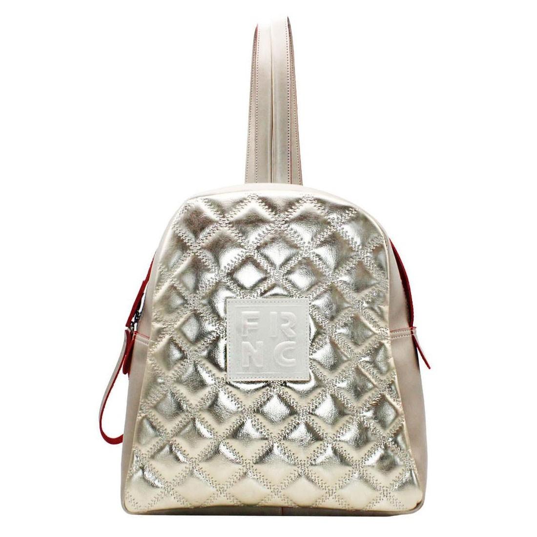 23a27f8efb FRNC FRANCESCO Τσάντα Γυναικεία Πλάτης-Backpack 1202 Πλατίνα ...