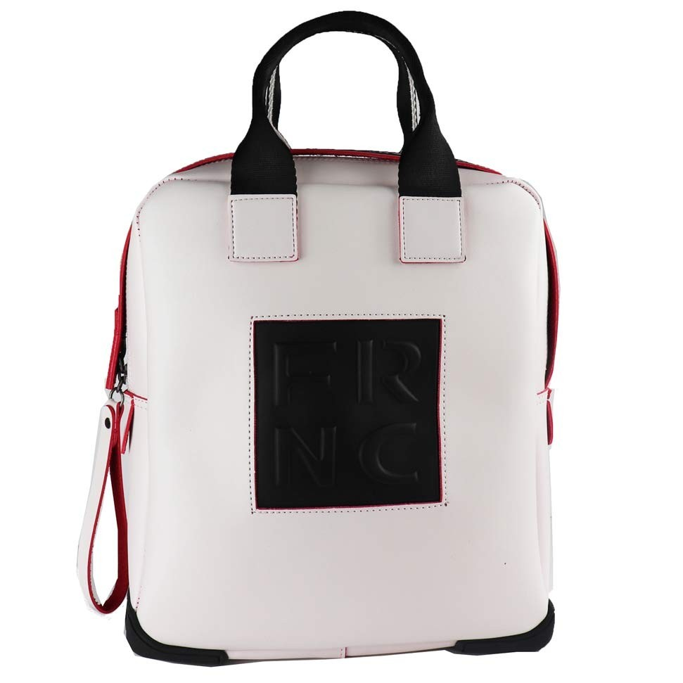0d51ea7594 FRNC FRANCESCO Τσάντα Γυναικεία Πλάτης-Backpack 2019 Off White Δέρμα ...