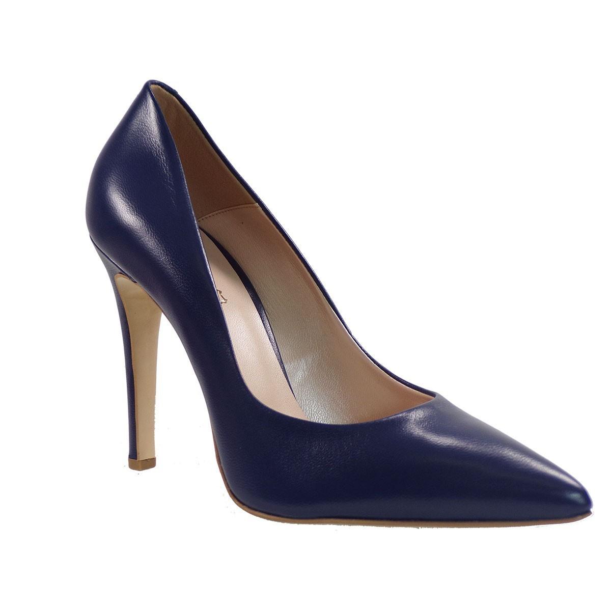 Fardoulis Shoes Γυναικείες Γόβες 2301 Μπλέ Δέρμα