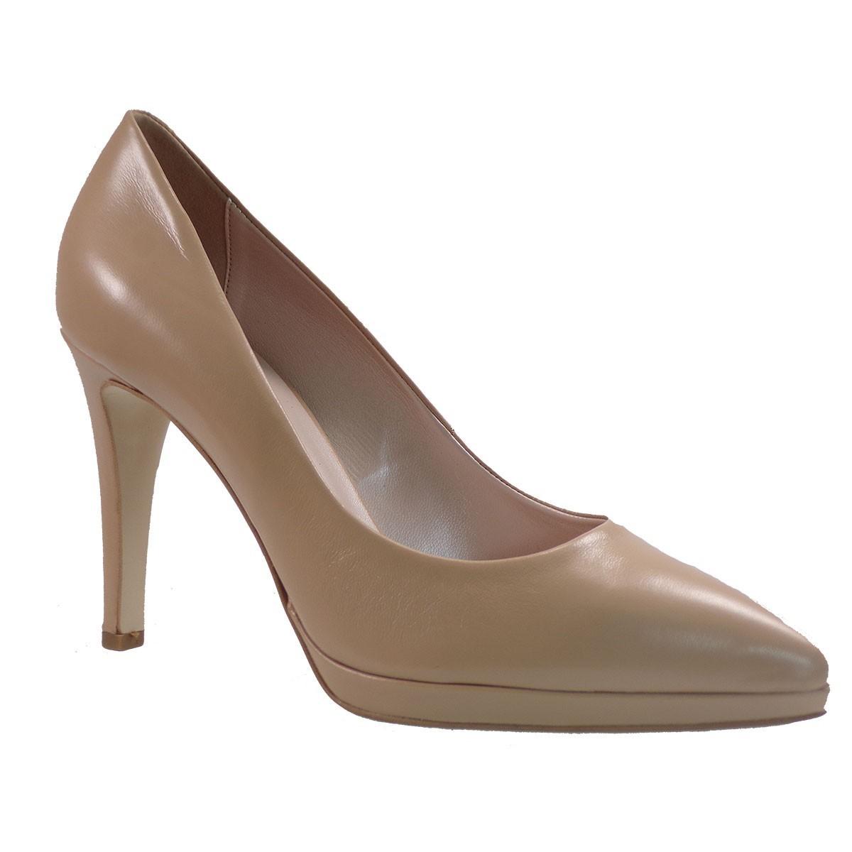 Fardoulis Shoes Γυναικεία Παπούτσια Γόβες 2501 Μπέζ Δέρμα