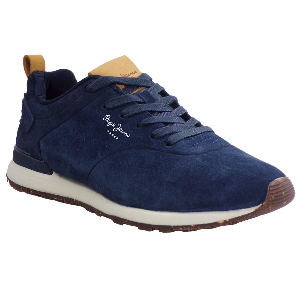 b9dbd09db71 Pepe Jeans BOSTON SMART Sneakers Ανδρικά Παπούτσια PMS30520-595 Μπλέ ...