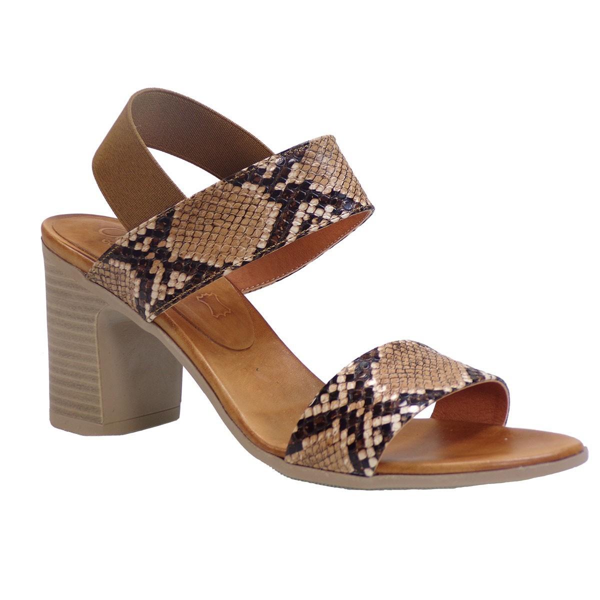 Katia Shoes Anneto Γυναικεία Πέδιλα 74-40 Ταμπά Φίδι