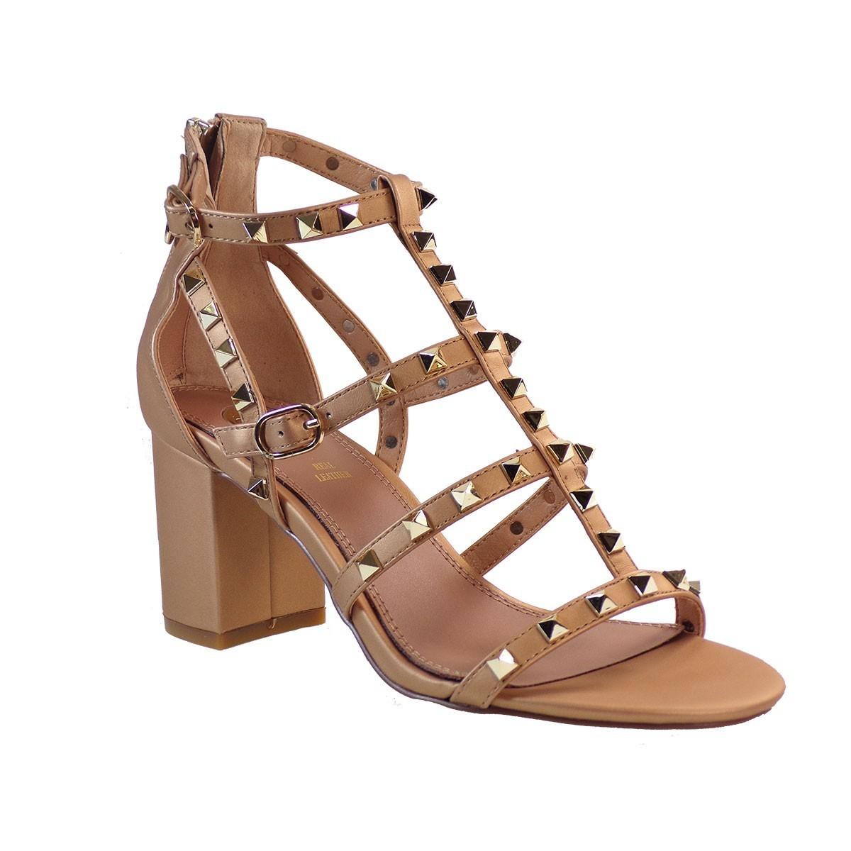 EXE Shoes Πέδιλα Γυναικεία ADELE-487 Μπρονζέ Ι4700487412