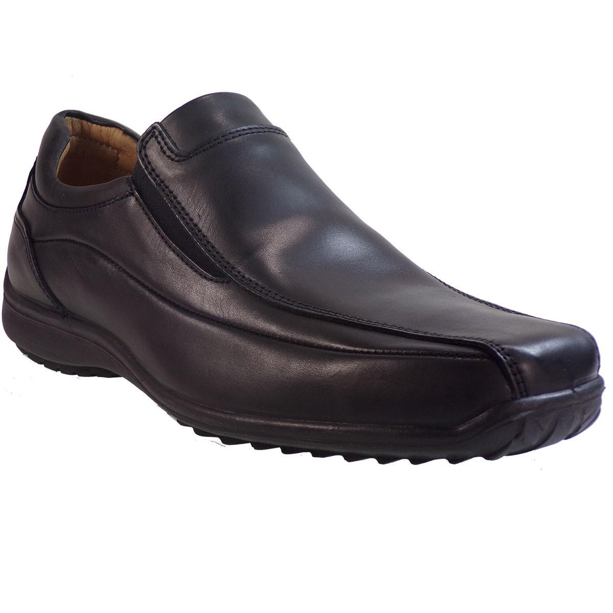 Aeropelma Duetto Ανδρικά Παπούτσια 671 Μαύρο Δέρμα