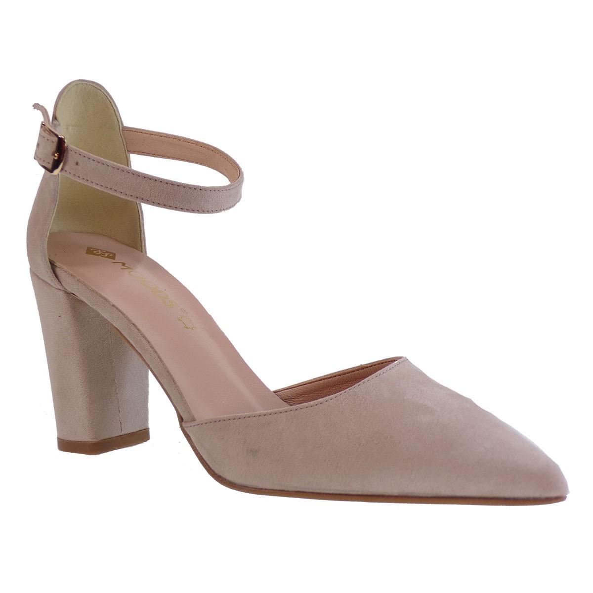 Moods Shoes Γυναικεία Παπούτσια Γόβες 7550 Nude Καστόρι