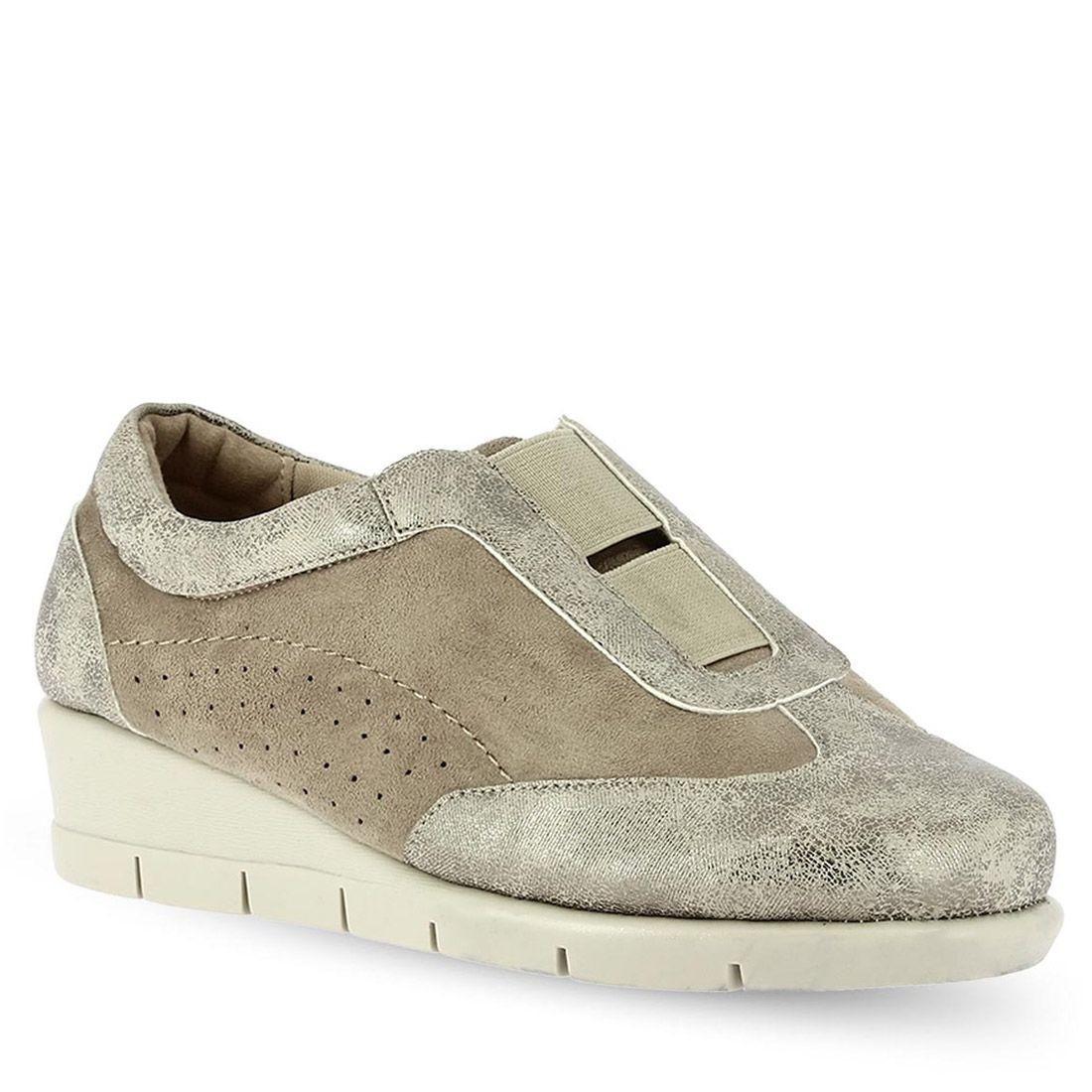 43ae2a203aca PAREX Γυναικεία Παπούτσια Sneakers Ανατομικά 10719001.P Πλατίνα ...