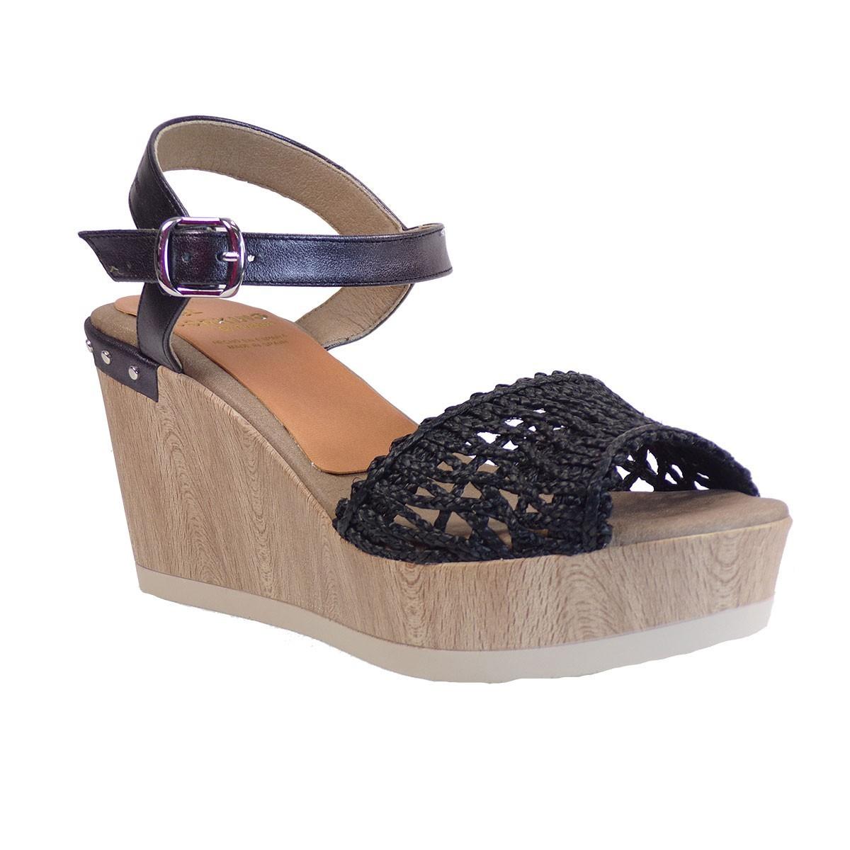 Dorkings Γυναικεία Παπούτσια Πλατφόρμες D7757-REEF Μαύρο