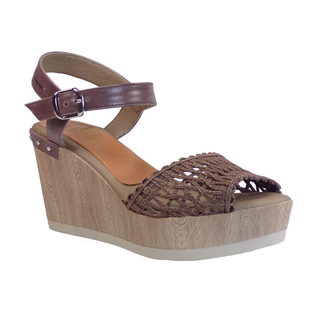 Dorkings Γυναικεία Παπούτσια Πλατφόρμες D7757-REEF Καφέ