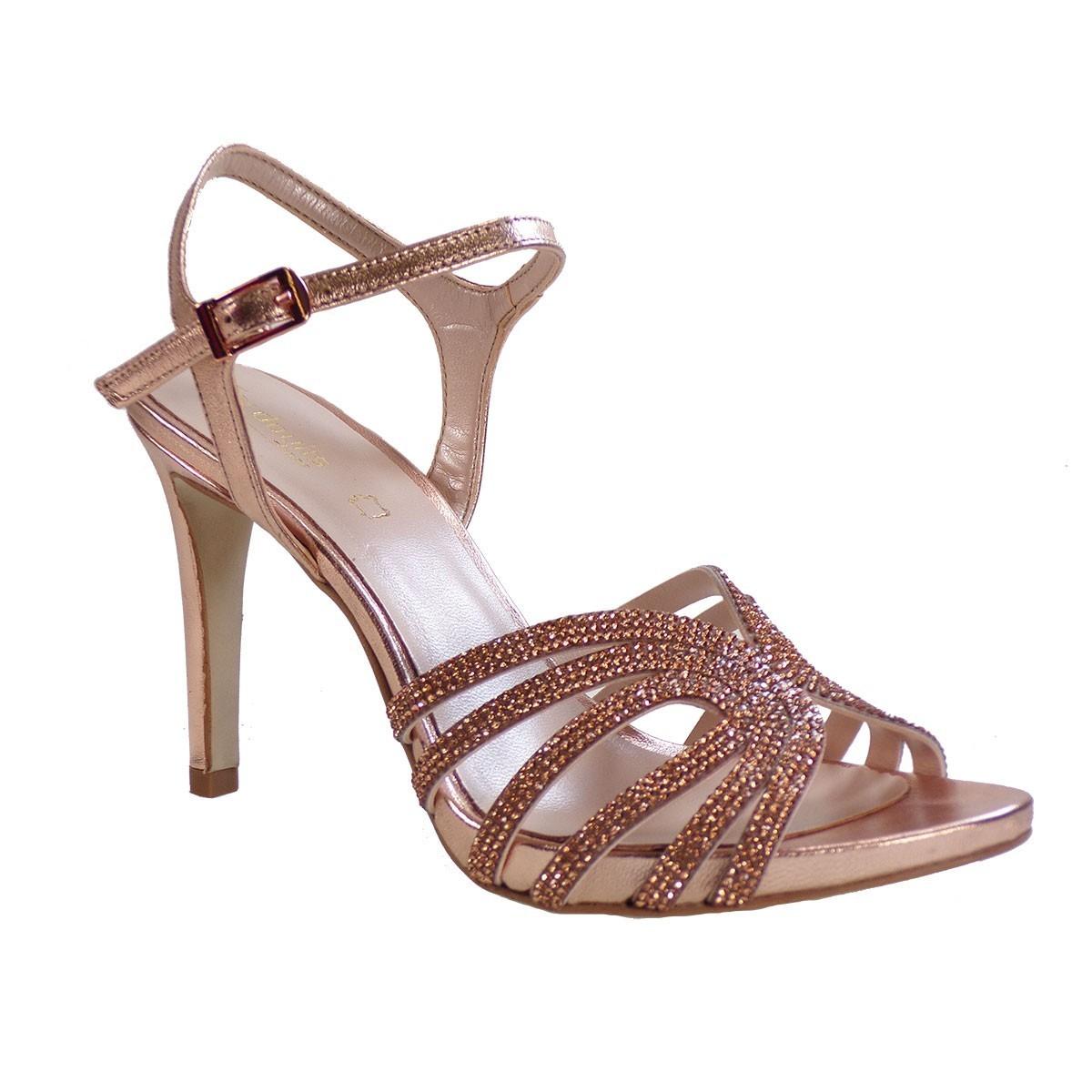 Fardoulis shoes Γυναικεία Παπούτσια Πέδιλα 8224 Xαλκός Δέρμα
