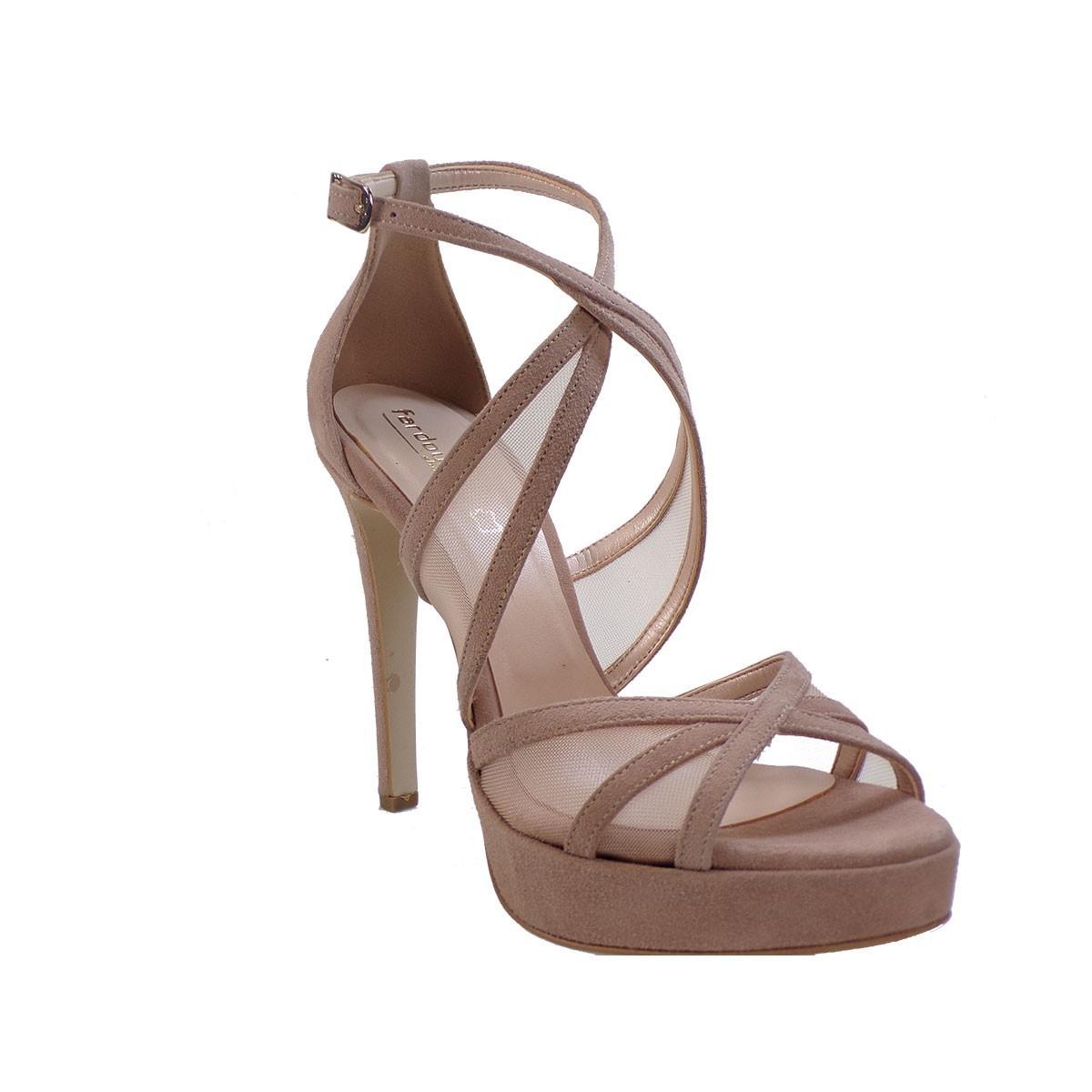 Fardoulis shoes Γυναικεία Παπούτσια Πέδιλα 3033Λ Νude Δέρμα Καστόρι