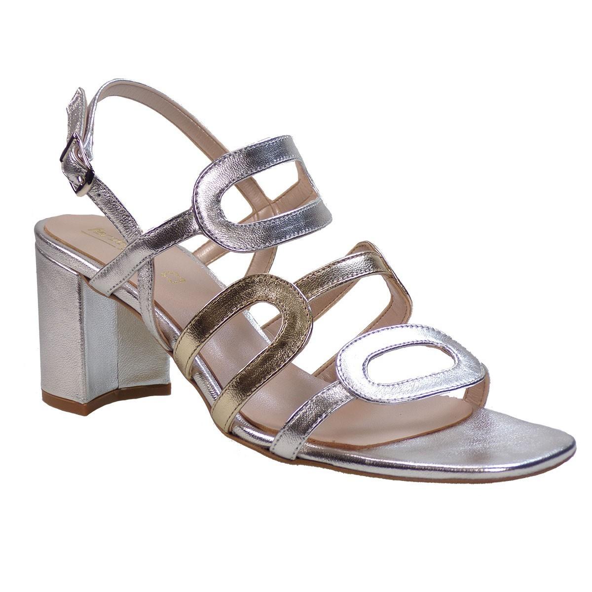 Fardoulis shoes Γυναικεία Παπούτσια Πέδιλα 51226 Aσημί-Πλατίνα Δέρμα