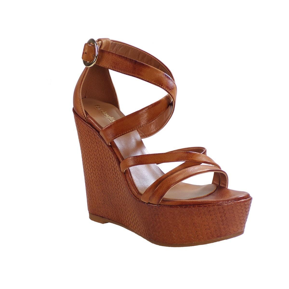 e67f3339b44 Fardoulis shoes Γυναικείες Πλατφόρμες Πέδιλα 27038 Ταμπά Δέρμα
