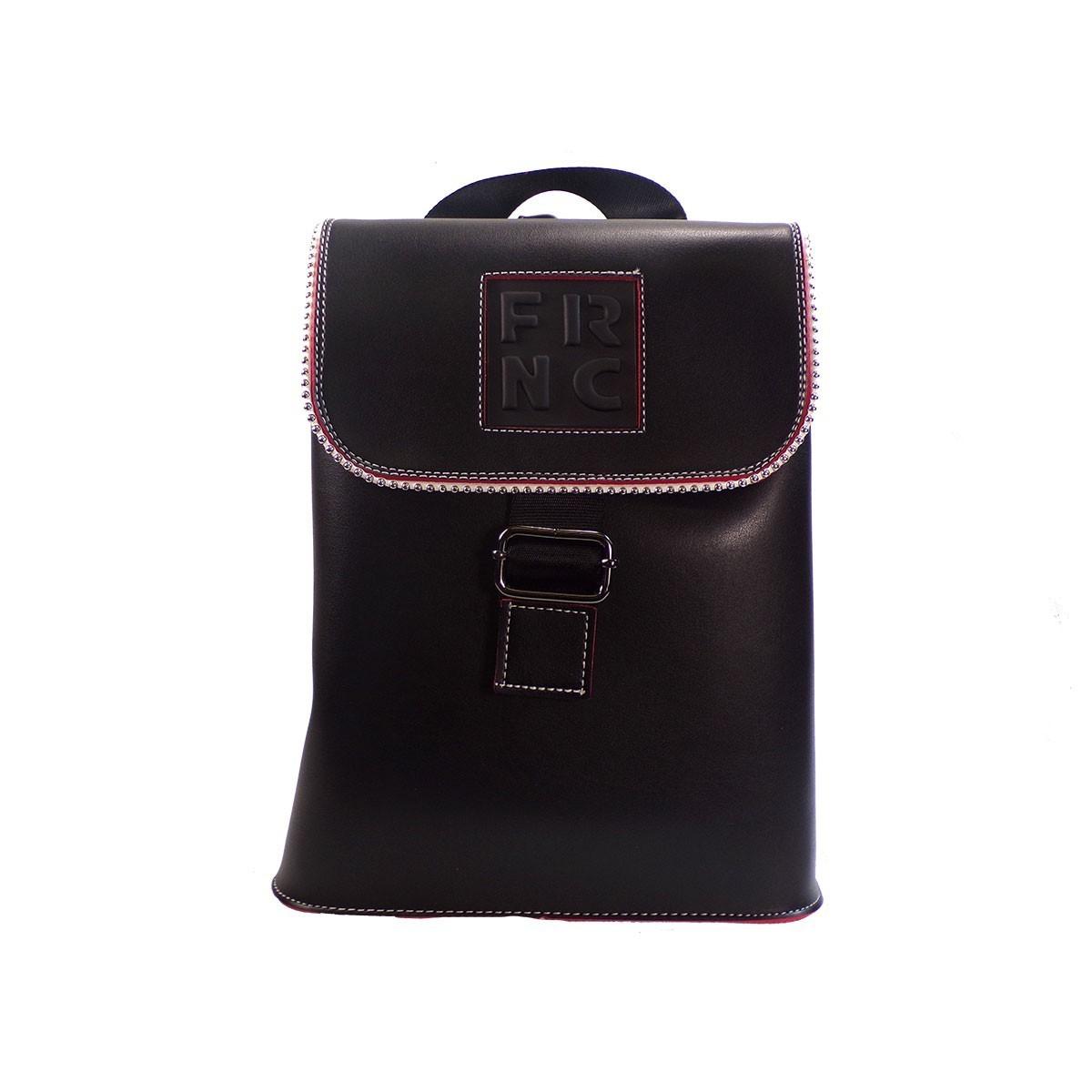eff8b4593a FRNC FRANCESCO Τσάντα Γυναικεία Πλάτης-Backpack 1260 Μαύρο Δέρμα ...