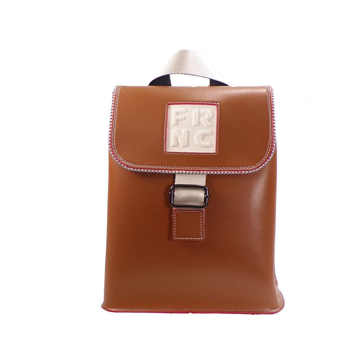 c399b41897 FRNC FRANCESCO Τσάντα Γυναικεία Πλάτης-Backpack 1260 Ταμπά Δέρμα ...