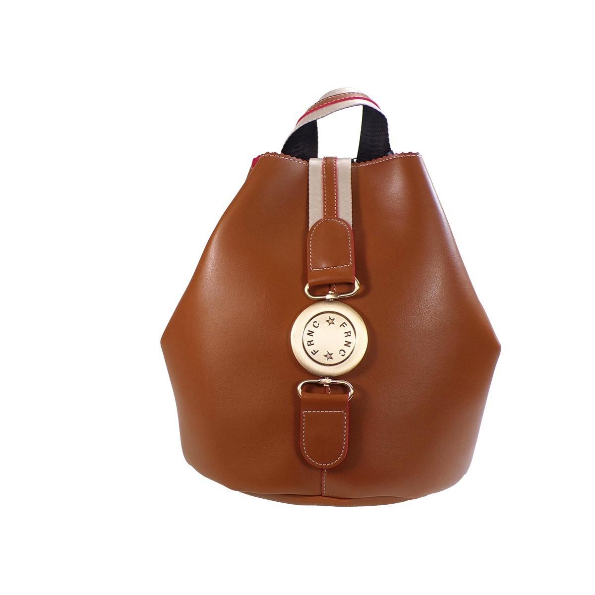 75f18a924c FRNC FRANCESCO Τσάντα Γυναικεία Πλάτης-Backpack 562 Ταμπά Δέρμα ...
