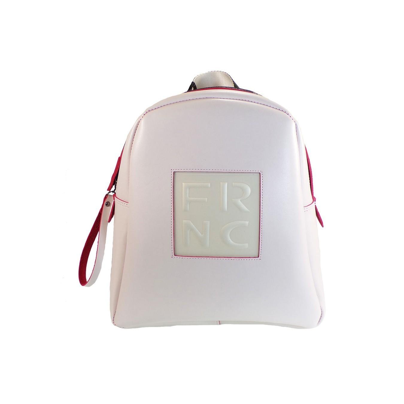e166d13aa8 FRNC FRANCESCO Τσάντα Γυναικεία Πλάτης-Backpack 1201 Οff White Δέρμα ...
