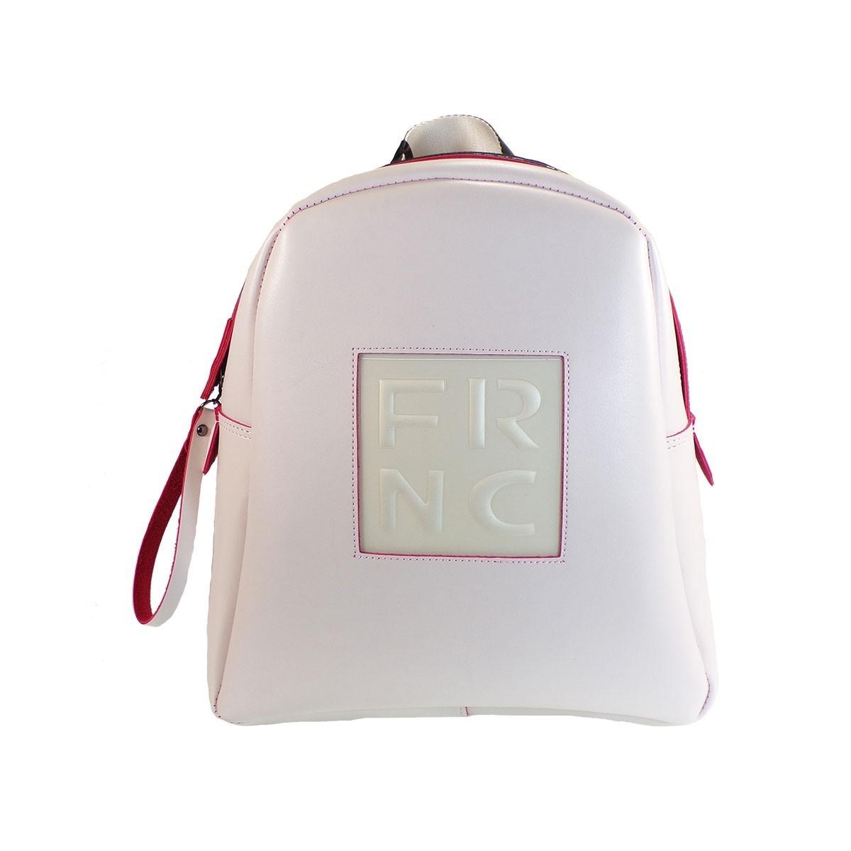 7bb15cc62f FRNC FRANCESCO Τσάντα Γυναικεία Πλάτης-Backpack 1202 Οff White Δέρμα ...