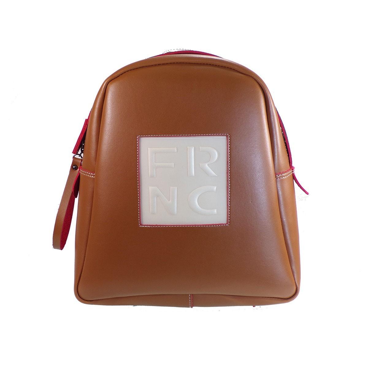 80870406ba FRNC FRANCESCO Τσάντα Γυναικεία Πλάτης-Backpack 1202 Ταμπά Δέρμα ...