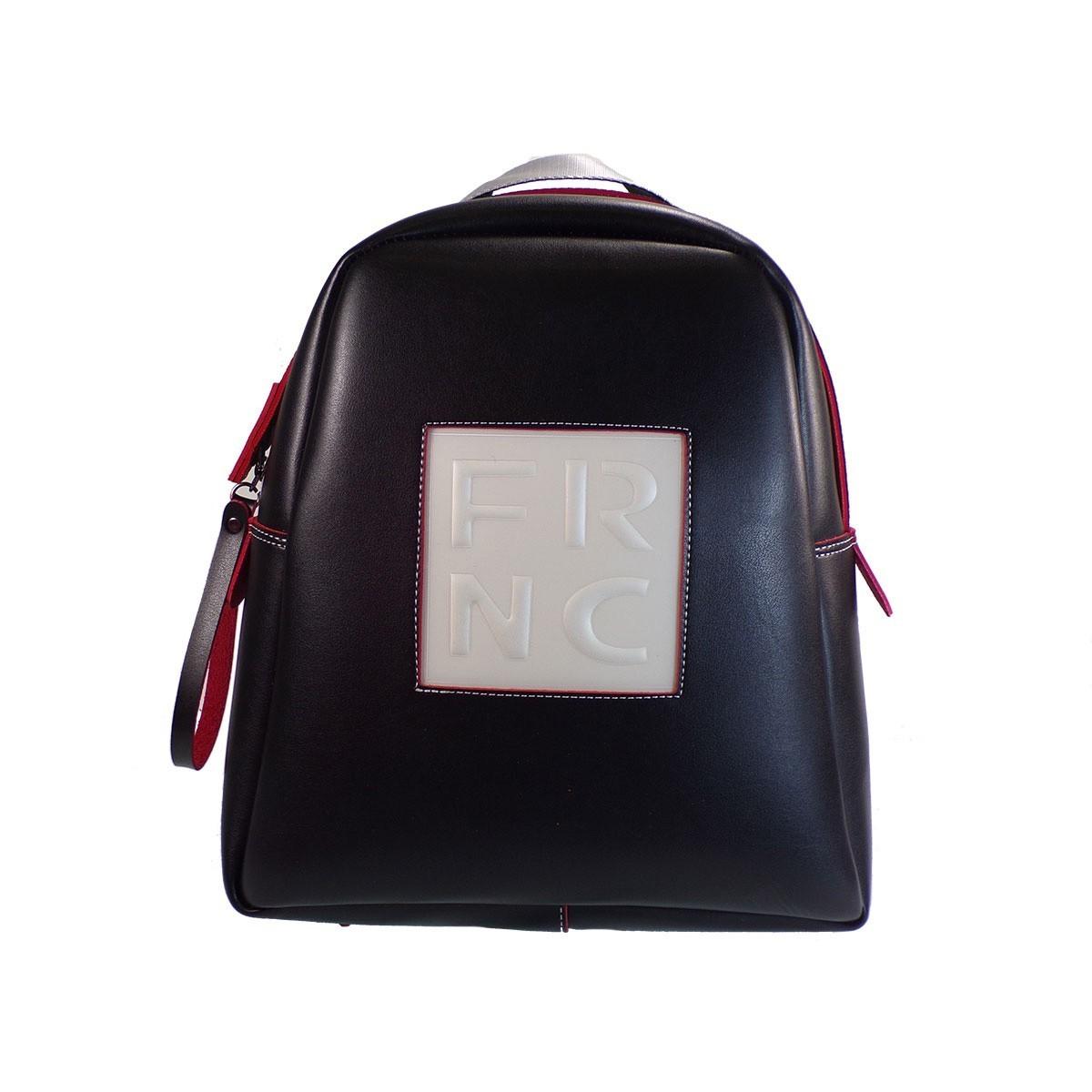 1182f2bc8e FRNC FRANCESCO Τσάντα Γυναικεία Πλάτης-Backpack 1202 Μαύρο Δέρμα ...