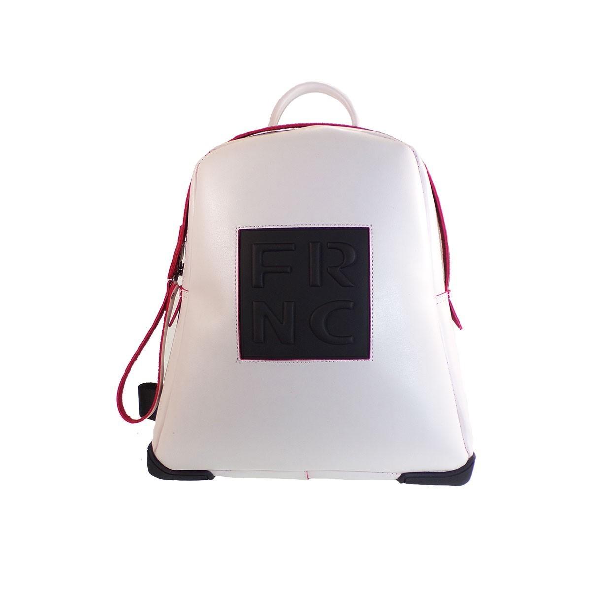 a4f26e4850 FRNC FRANCESCO Τσάντα Γυναικεία Πλάτης-Backpack 2023 Off White Δέρμα ...