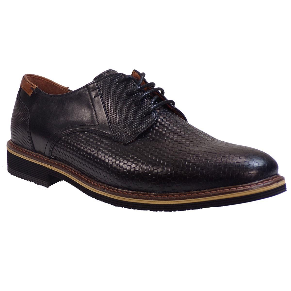 kricket Ανδρικά Παπούτσια 093 Μαύρο Δέρμα Ψάθα