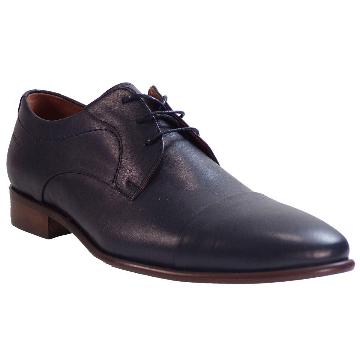 Robinson Ανδρικά Παπούτσια 2203 Μπλέ Δέρμα