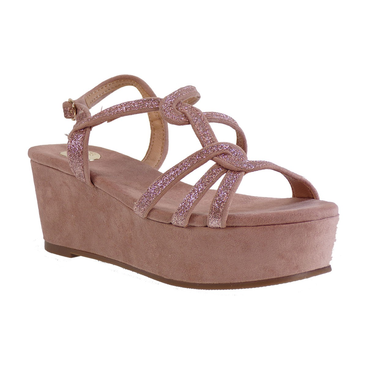 EXE Shoes Γυναικεία Πέδιλα Πλατφόρμες 343-CORFU-334 Νude Ι4700343771005