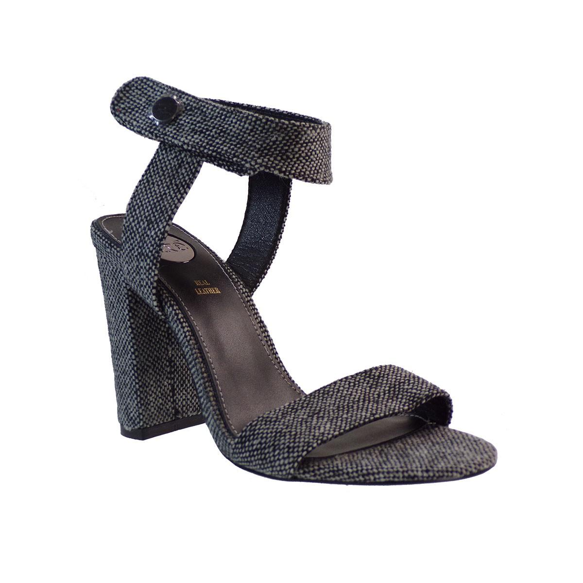 EXE Shoes Πέδιλα Γυναικεία LIDIA-273 Λευκό-Μαύρο I4700273548305