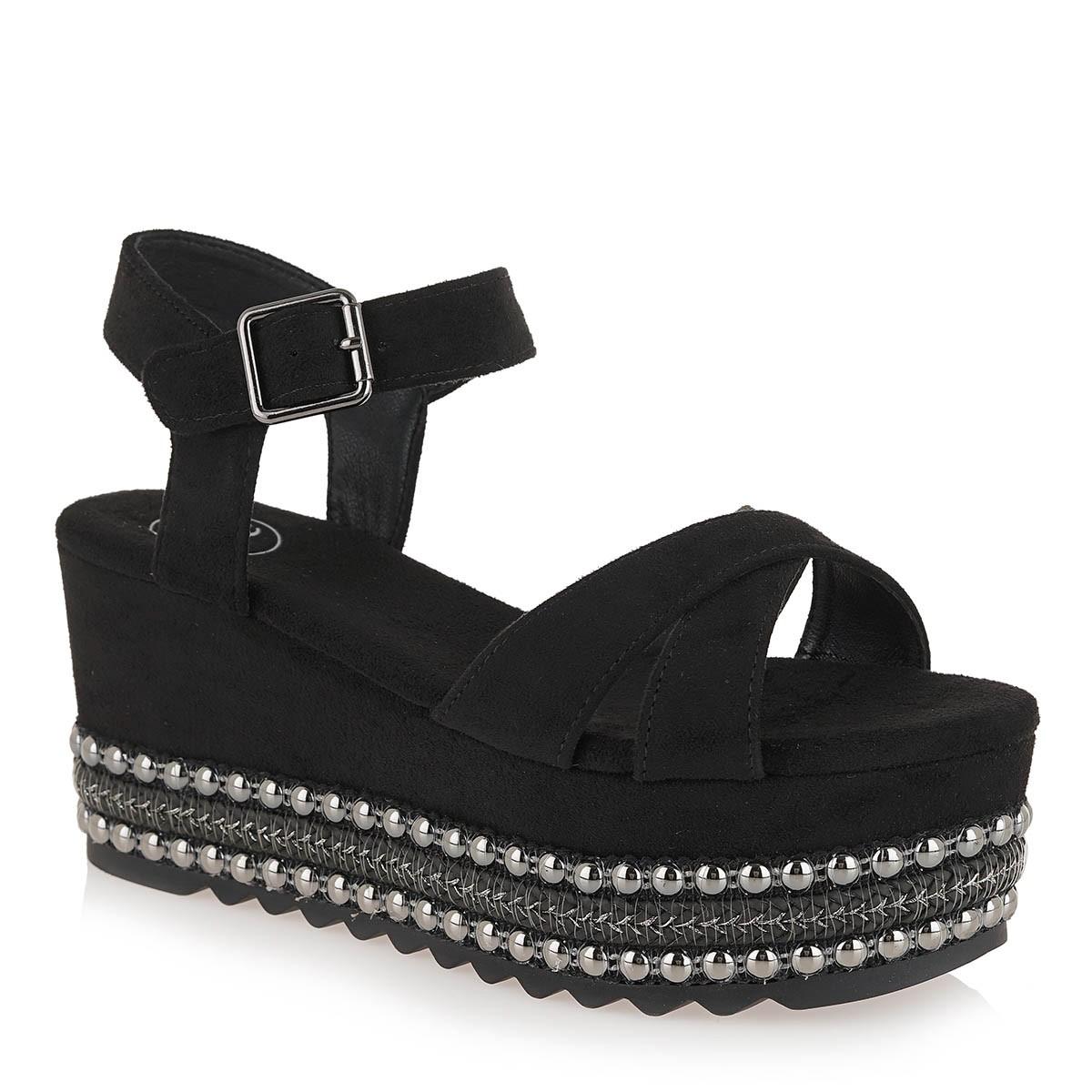 EXE Shoes Γυναικεία Πέδιλα Πλατφόρμες MACAU-716 Μαύρο Ι4700716723