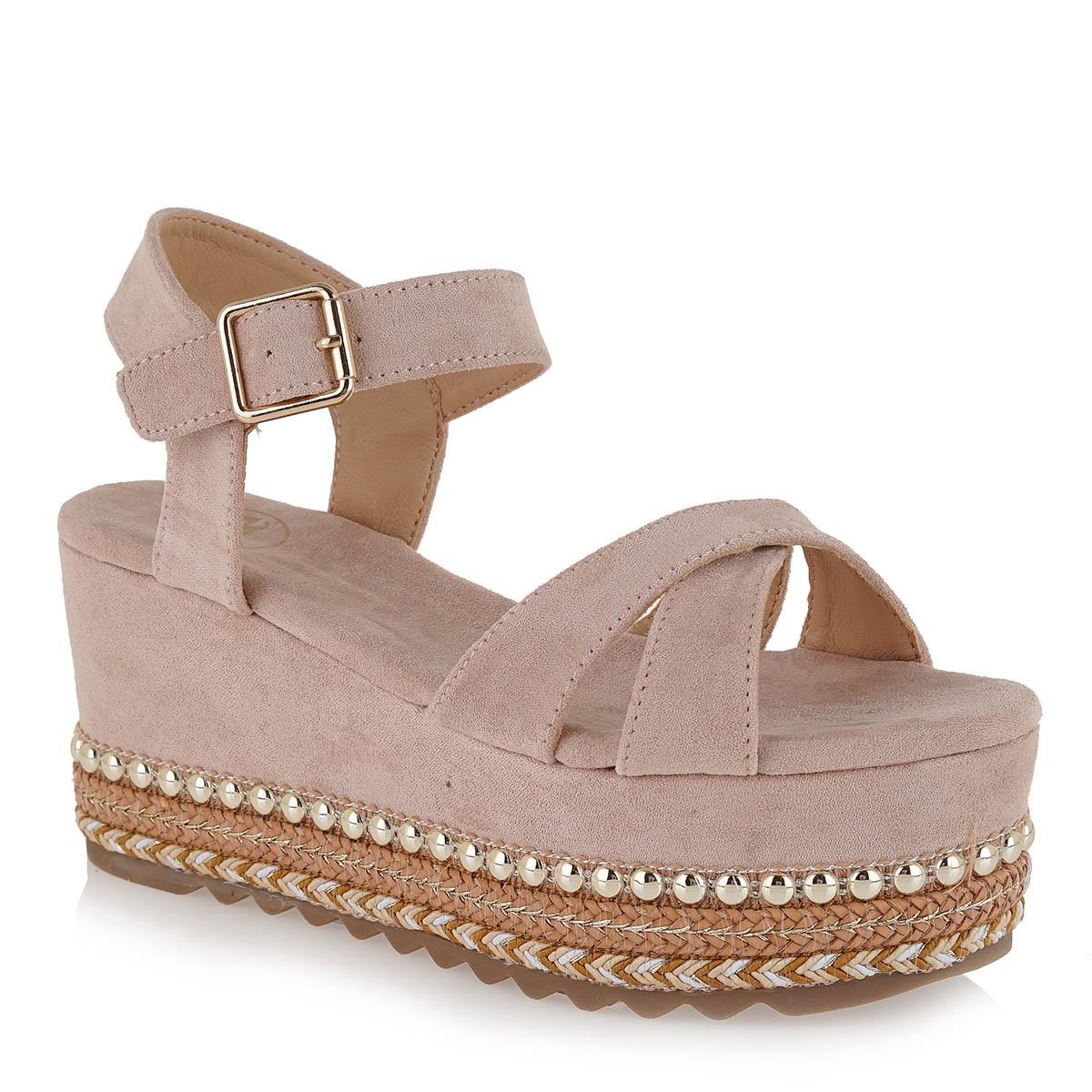 EXE Shoes Γυναικεία Πέδιλα Πλατφόρμες MACAU-716 Nude Ι4700716771