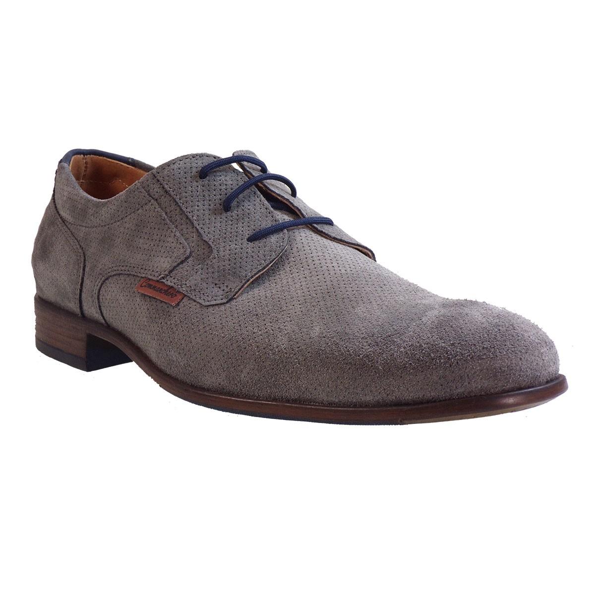Commanchero Ανδρικά Παπούτσια 91689 Γκρί Δέρμα Καστόρι