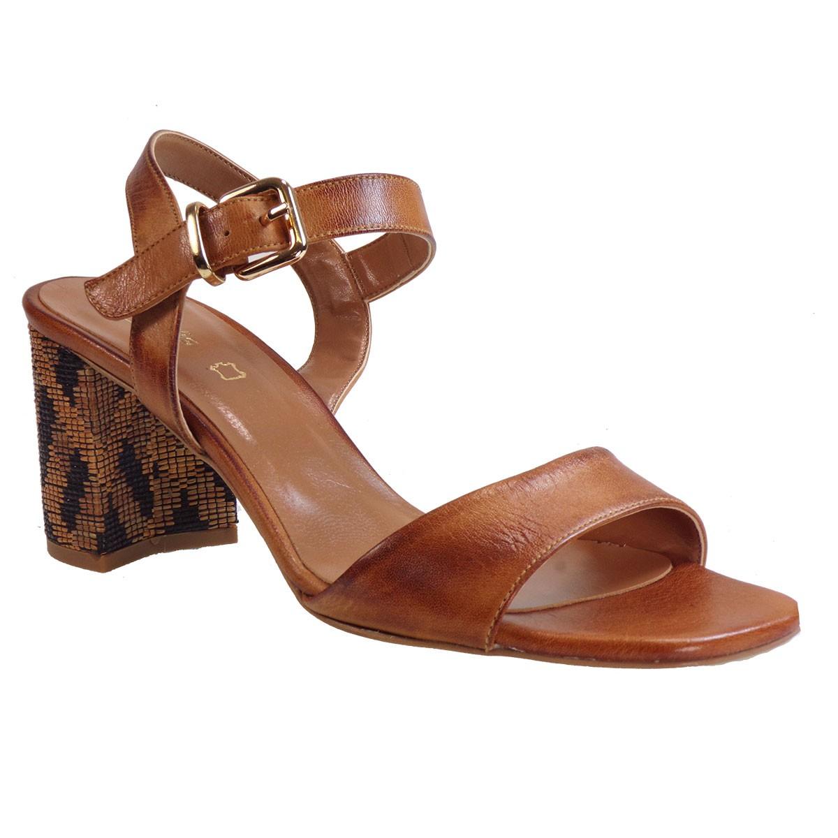 Fardoulis shoes Γυναικεία Παπούτσια Πέδιλα 51236 Ταμπά Δέρμα
