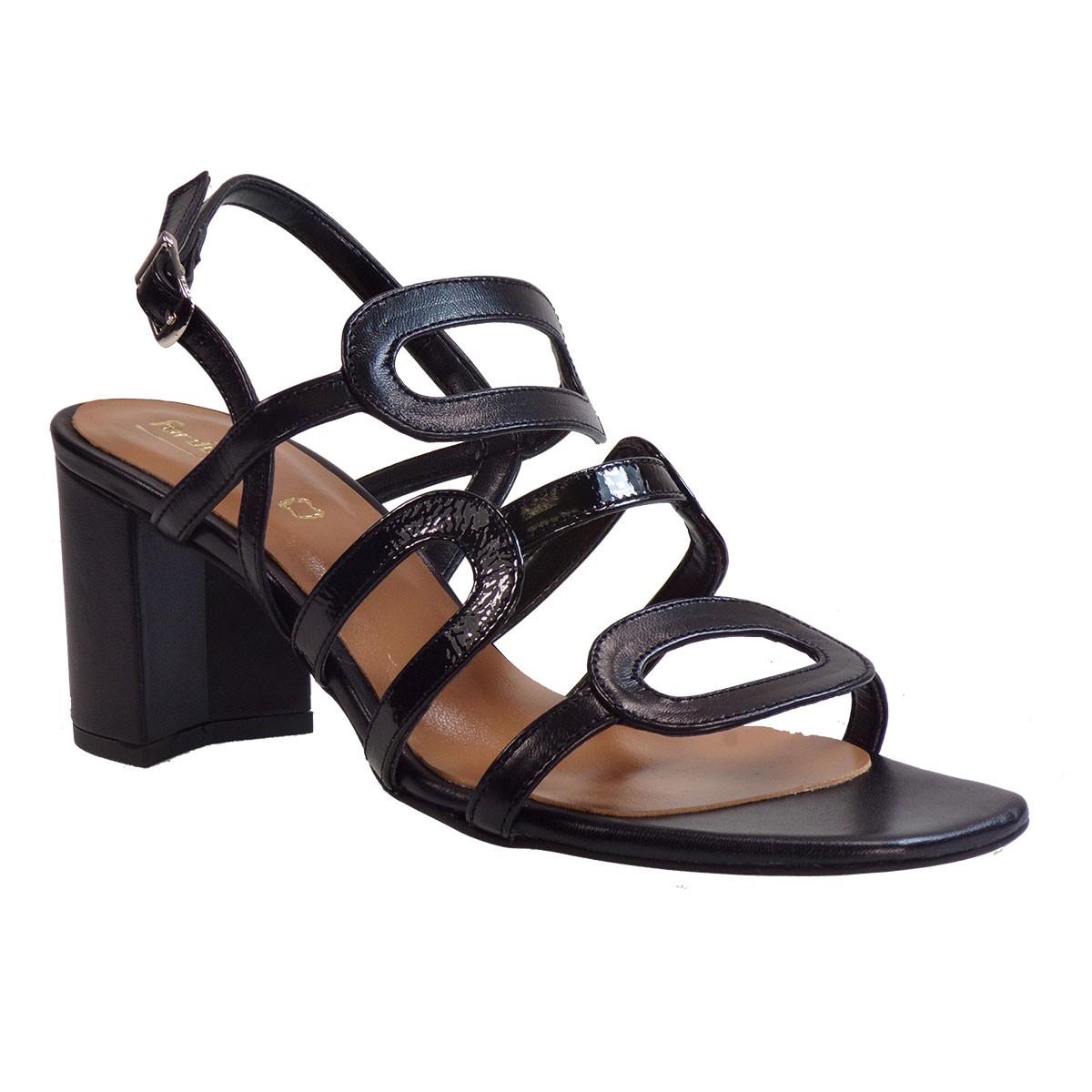 Fardoulis shoes Γυναικεία Παπούτσια Πέδιλα 51226 Μαύρο Δέρμα