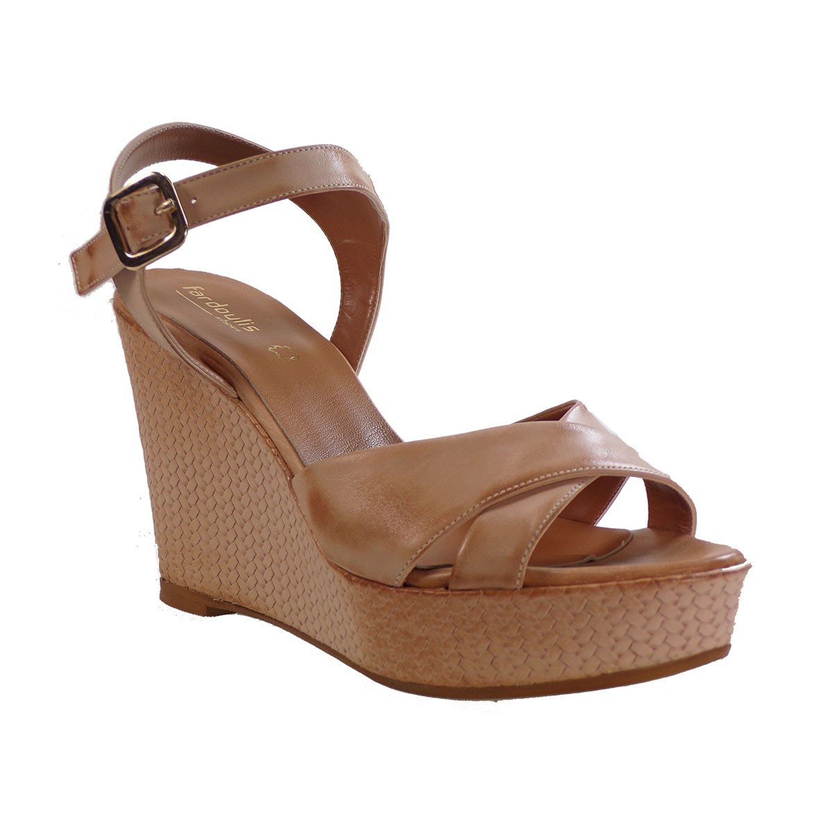 c2496252792 Fardoulis shoes Γυναικείες Πλατφόρμες Πέδιλα 26040 Nude Δέρμα