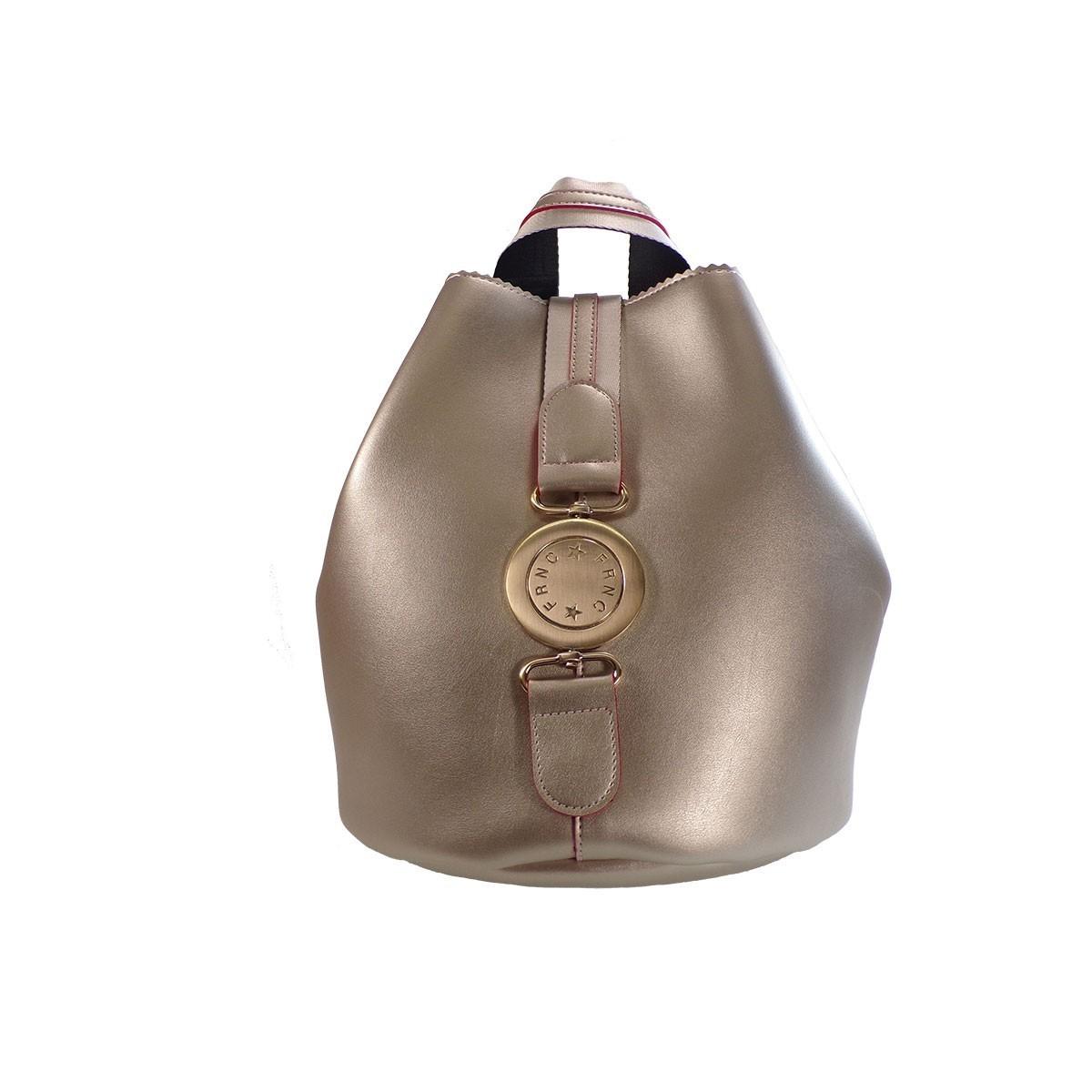 c505a3d7e9 FRNC FRANCESCO Τσάντα Γυναικεία Πλάτης-Backpack 562 Πλατίνα Δέρμα ...